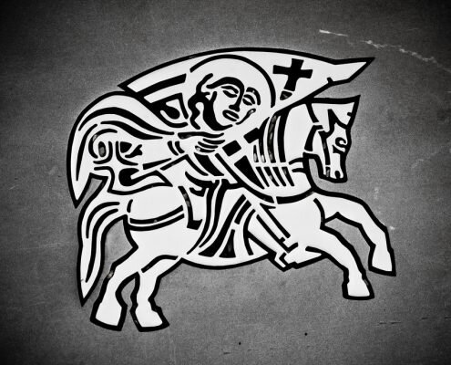 Knight on the horse - Zadar city seal
